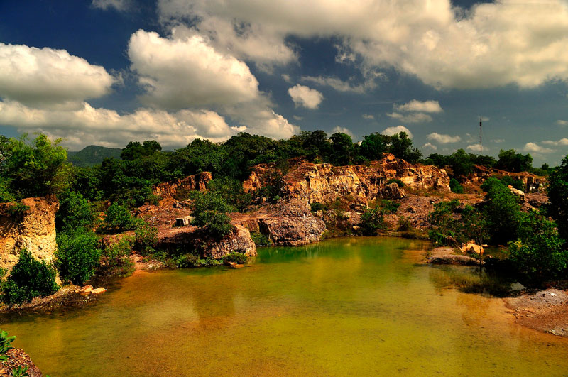 Hồ Tà Pạ tọa lạc ở xã Núi Tô, huyện Tri Tôn, tỉnh An Giang. Ảnh: Diem Dang Dung.