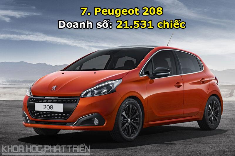 7. Peugeot 208.