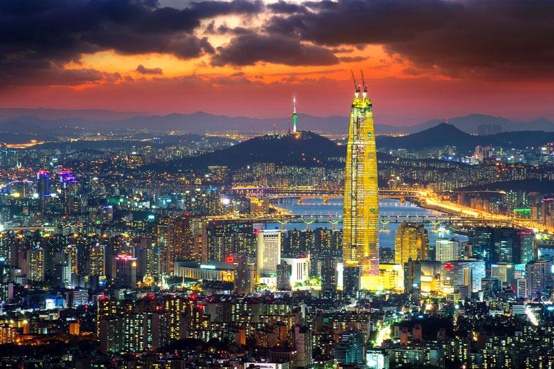 10. Thủ đô Seoul, Hàn Quốc. Tổng số tòa nhà chọc trời: 62.