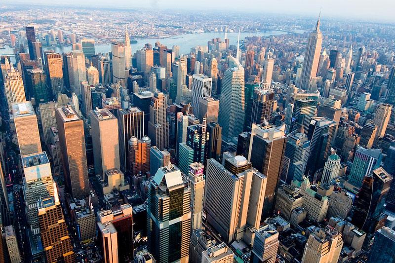 2. Thành phố New York, Mỹ. Tổng số tòa nhà chọc trời: 237.