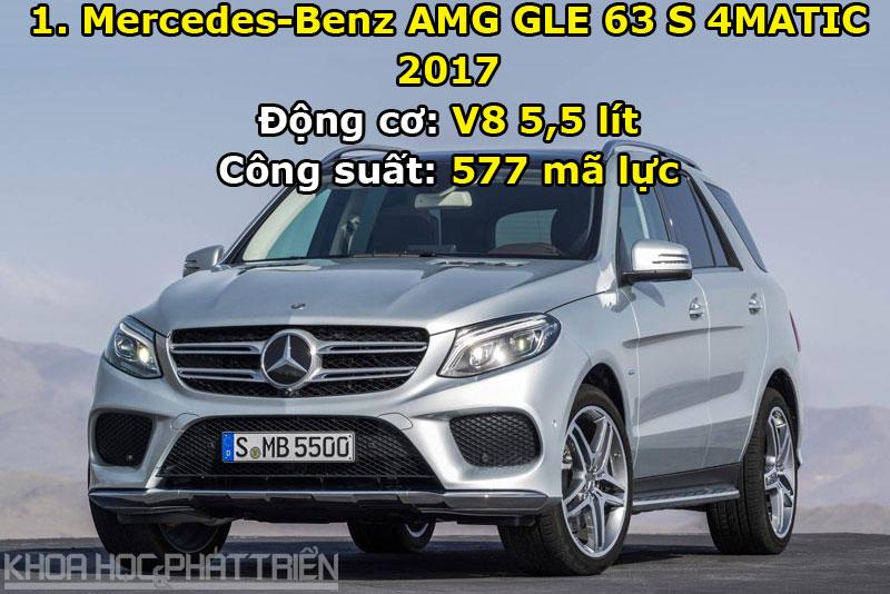 1. Mercedes-Benz AMG GLE 63 S 4MATIC 2017.