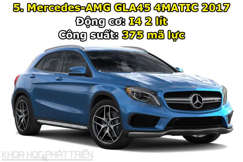 5. Mercedes-AMG GLA45 4MATIC 2017.