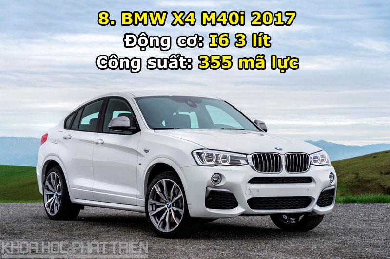 8. BMW X4 M40i 2017.