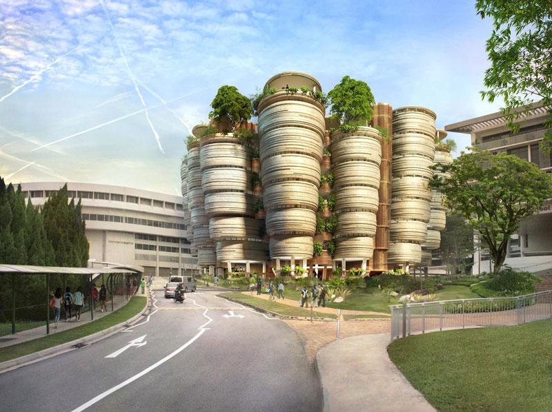 4. Đại học công nghệ Nanyang (NTU), được thành lập năm 1981, nằm ở khu Tây Nam Singapore. NTU có 4 trường cao đẳng và 12 trường chuyên ngành. NTU cũng là trường đại học rộng nhất đảo quốc sư tử với tổng diện tích lên đến 200 hécta.