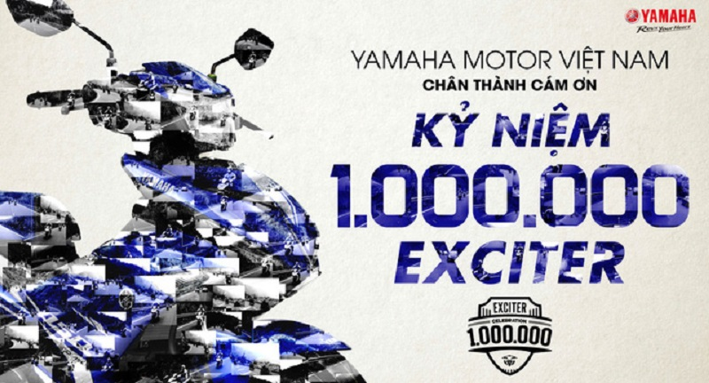 """Exciter lưu tên vào sách kỷ lục Guinness Thế giới. Hoạt động lập 3 kỷ lục Guinness Thế giới của Exciter sẽ được tổ chức hoành tráng vào ngày 29-30/07 tại Sân vận động Hoa Lư, Q.1, TP.HCM trong sự kiện """"Kỷ niệm 1.000.000 Exciter"""". (CHI TIẾT)"""