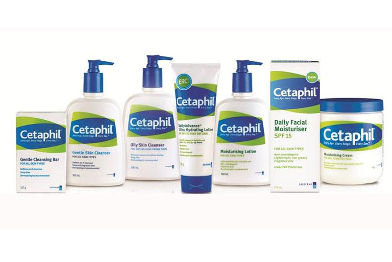 2. Cetaphil. Dòng sản phẩm chăm sóc da của Mỹ thuộc Galderma Laboratories. Sản phẩm của nó luôn đạt tiêu chuẩn về y tế và da liễu, được các bác sỹ da liễu trên toàn thế giới khuyên dùng. Cetaphil được người dùng đánh cao khi chú trọng tới các sản phẩm chuyên dùng cho da khô, da nhạy cảm, da mụn…