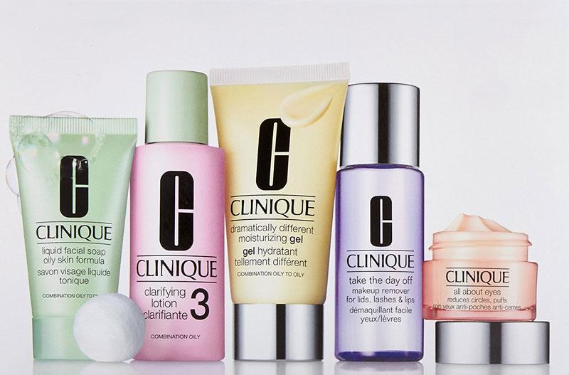 3. Clinique. Hãng sản xuất mỹ phẩm, chăm sóc da, đồ vệ sinh và nước hoa của Mỹ, thường được bán ở các cửa hàng cao cấp. Nó là một công ty con của Estee Lauder Companies. Vào tháng 8/1968, Clinique được công nhận là dòng mỹ phẩm đầu tiên trên thế giới thử nghiệm dị ứng, có tính da liễu tại Saks Fifth Avenue.