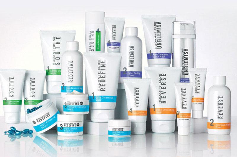 8. Rodan + Fields. Công ty chuyên sản xuất và cung cấp các sản phẩm chăm sóc da có trụ sở ở San Francisco, Mỹ. Nó được thành lập năm 2007 bởi 2 tiến sĩ Katie Rodan và Kathy Fields. Sản phẩm của Rodan + Fields khá đa dạng từ kem dưỡng, kem chống nữa, sữa rửa mặt…