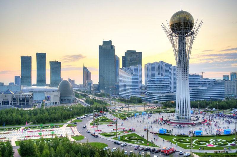 5. Astana. Là Thủ đô và là thành phố lớn thứ hai (sau Almaty) của Kazakhstan. Với chính sách du lịch mở, thành phố Astana ngày càng có nhiều du khách tới tham quan, nghỉ dưỡng. Từ giữa tháng 6 – 9/2017, thành phố sẽ tổ chức Hội chợ thế giới (World Expo) về chủ đề năng lượng bền vững. Trong thời gian này, công dân của 45 quốc gia có thể lưu trú tại Kazakhstan 30 ngày mà không cần thị thực.