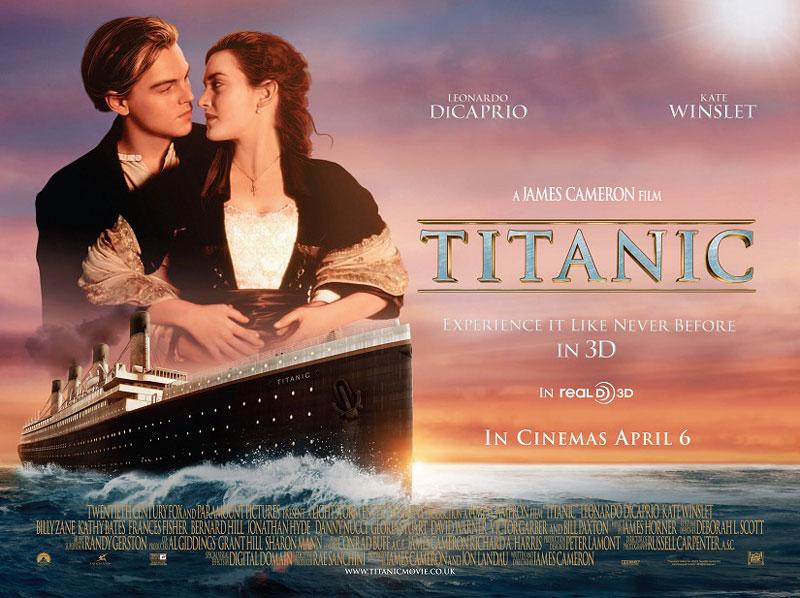 5. Titanic. Tổng doanh thu: 80,3 triệu bảng.