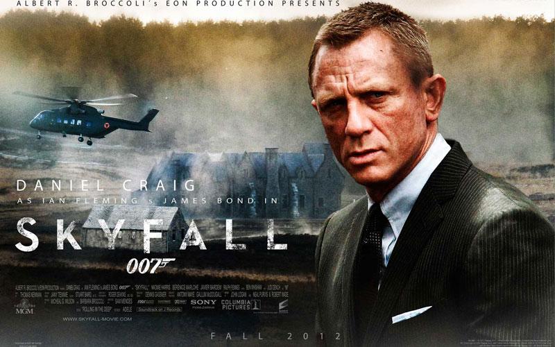 2. Tử địa Skyfall. Tổng doanh thu: 103,2 triệu bảng.