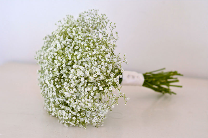 Hoa baby có thể bó hoặc cắm riêng một mình nó, hoặc có thể bó kèm với một số loại hoa khác như hồng, lyly, đồng tiền…