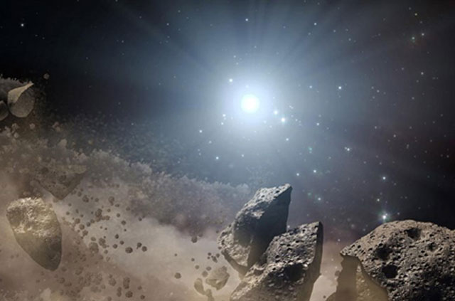 Các tiểu hành tinh hình thành do sự vỡ ra của vi thể hành tinh. Ảnh: NASA.