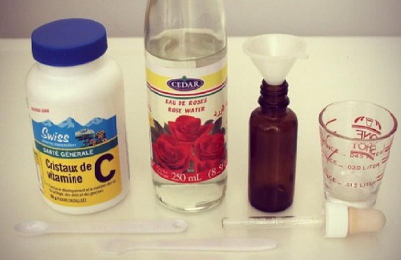 Thành phần cần thiết cho serum vitamin C.