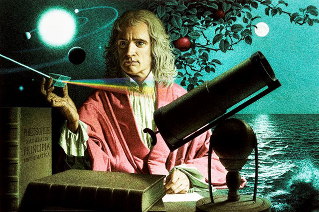 Câu chuyện Newton bị một quả táo rơi trúng đầu và từ đó khám phá ra lực hấp dẫn chỉ là giai thoại. Ảnh: Occultum.