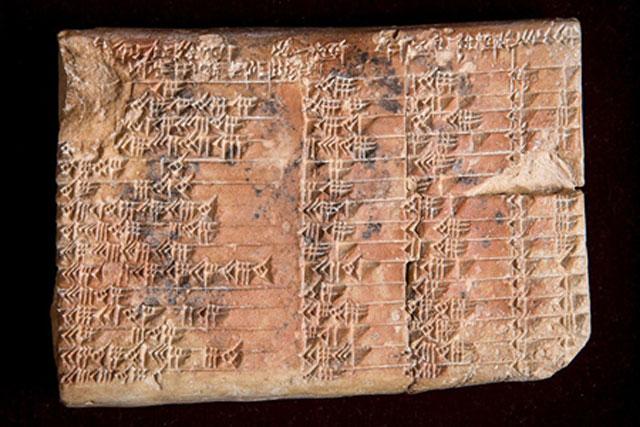 Plimpton 322 là bảng lượng giác đầu tiên trên thế giới. Ảnh: UNSW.