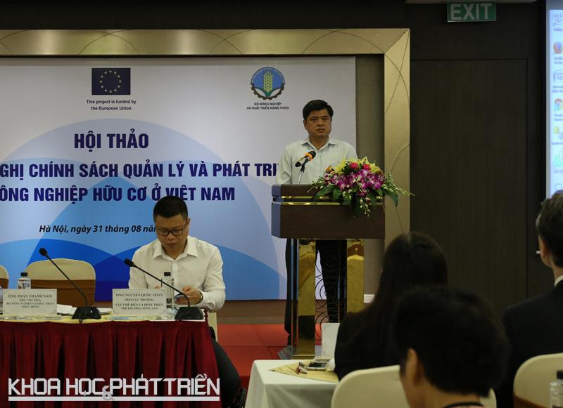 Thứ trưởng Trần Thành Nam phát biểu tại hội thảo