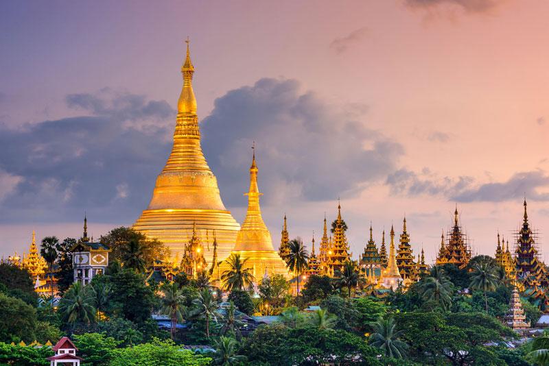 2. Myanmar. Tổng diện tích: 676.578 km2.