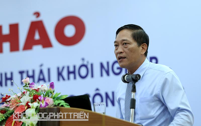 Thứ trưởng Bộ KH&CN Trần Văn Tùng phát biểu tại hội nghị.