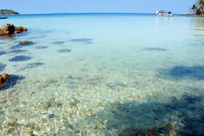Để đến được đảo Nam Du dễ dàng và thuận lợi nhất, bạn phải đến bến tàu Rạch Giá (Kiên Giang). Sau đó, đón tàu đi Nam Du. Ảnh: Hải An.