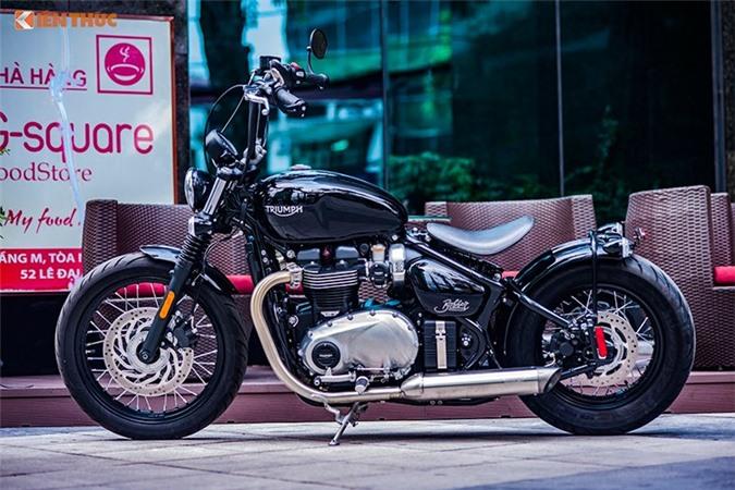 Chi tiết môtô Triumph Bobber giá hơn nửa tỷ đồng tại Hà Nội. Chiếc xe môtô bobber