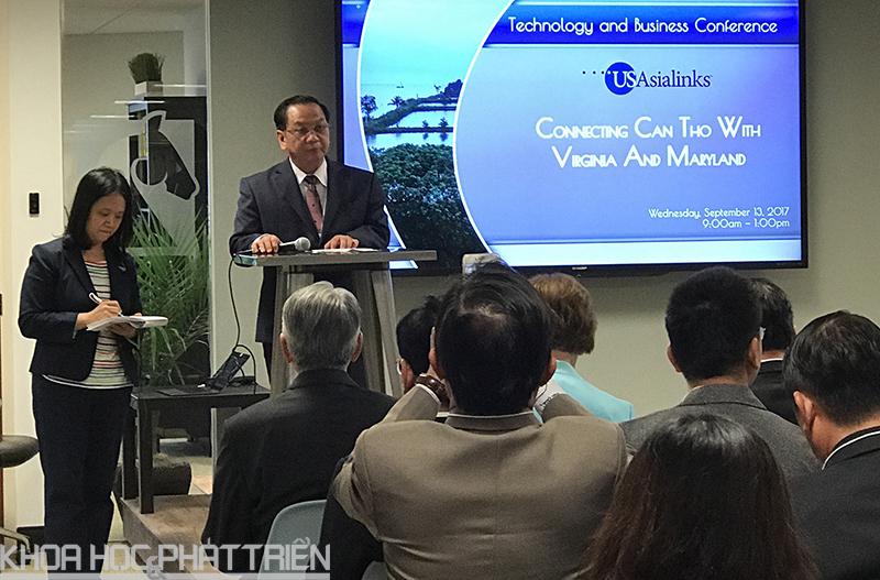 Bí Thư Thành uỷ Cần Thơ phát biểu tại hội nghị kết nối đầu tư