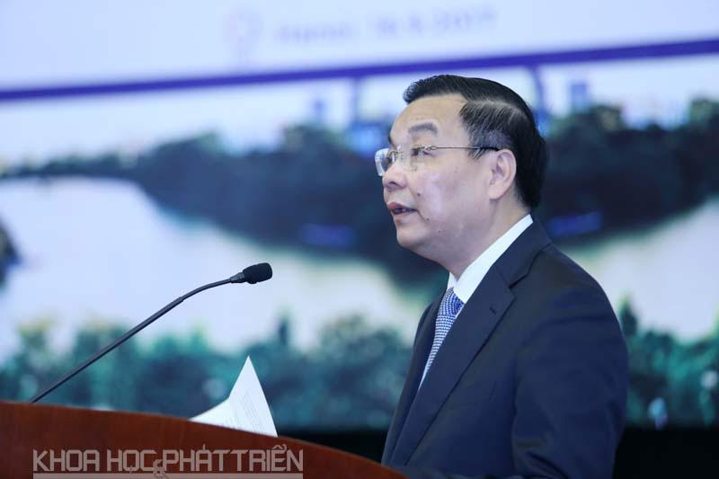 Bộ trưởng Bộ KH&CN phát biểu tại sự kiện. Ảnh: Loan Lê
