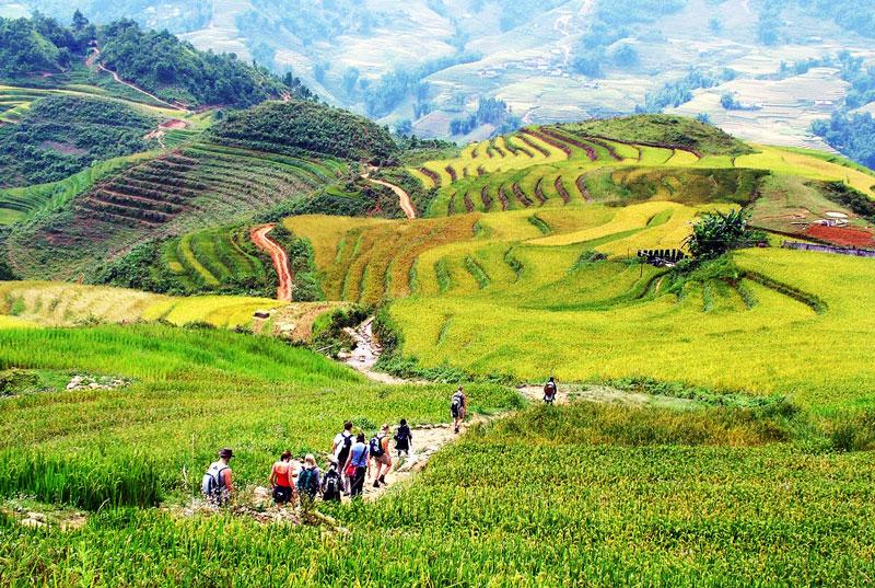 6. Sapa. Là thị trấn vùng cao thuộc huyện Sa Pa, tỉnh Lào Cai, Việt Nam. Nó nằm trên một mặt bằng ở độ cao 1.500 - 1.650 m ở sườn núi Lô Suây Tông. Đỉnh của núi này có thể nhìn thấy ở phía Đông Nam của Sa Pa, có độ cao 2.228 m. Từ thị trấn nhìn xuống có thung lũng Ngòi Dum ở phía Đông và thung lũng Mường Hoa ở phía Tây Nam. Nơi đây là một trong những điểm du lịch hút khách bậc nhất Việt Nam.