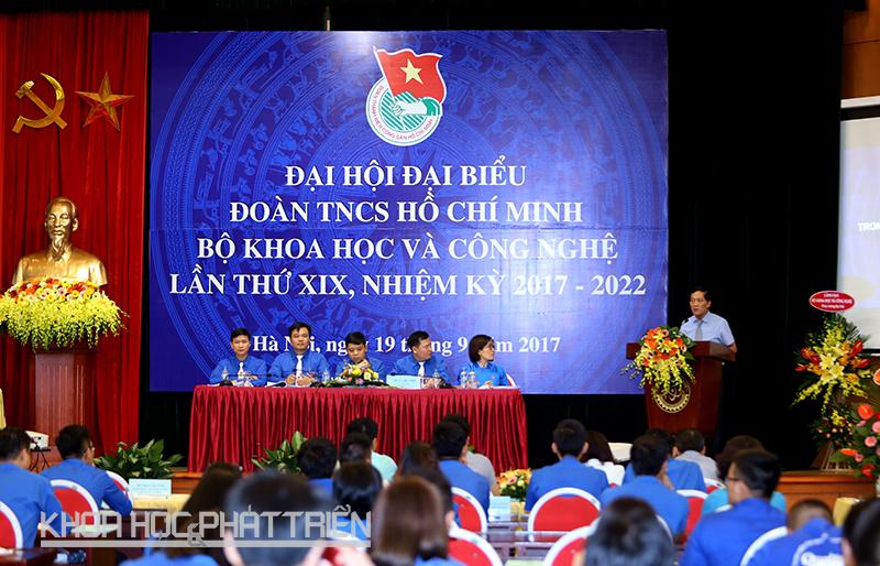 Toàn cảnh Đại hội Đại biểu Đoàn TNCS Hồ Chí Minh Bộ KH&CN lần thứ XIX.