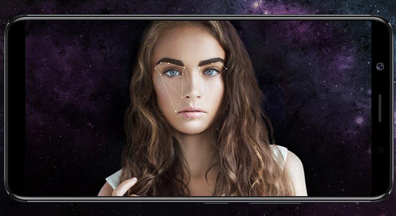 Vivo X20 hỗ trợ khả năng nhận diện khuôn mặt.