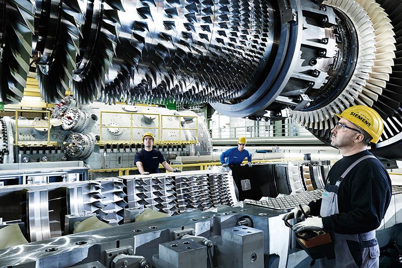 Một tuabin khí do Siemens thiết kế và chế tạo. Ảnh: Newequipment