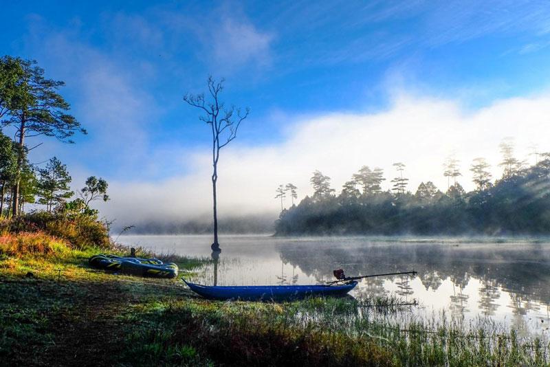 Hồ Tuyền Lâm là một trong những địa điểm vô cùng thu hút khách du lịch tại thành phố ngàn hoa. Ảnh: Nguyễn Hải Vinh.