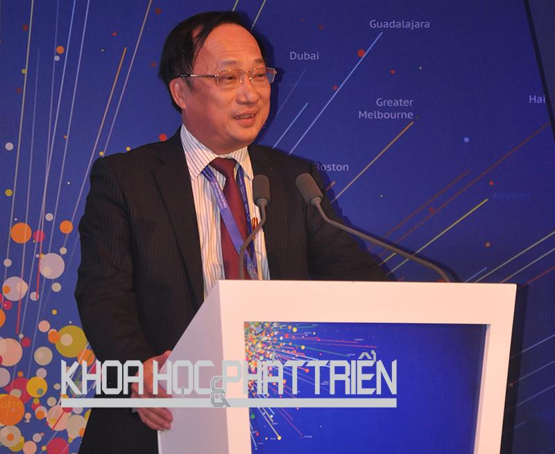 Ông Nguyễn Văn Thanh tại Hội nghị thượng đỉnh toàn cầu các thành phố thế giới ở Dubai.