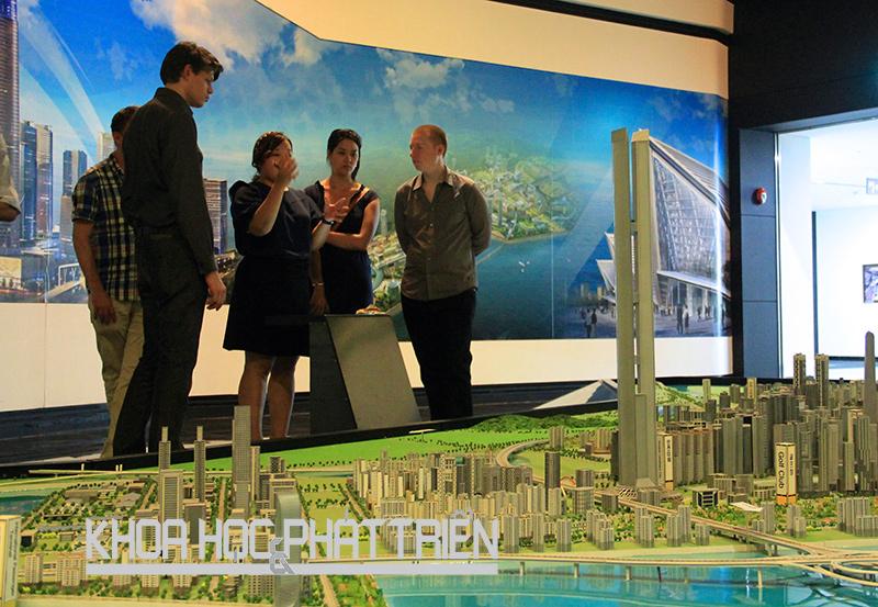Mô hình thành phố thông minh Songdo, Hàn Quốc. Ảnh: Đình Chính