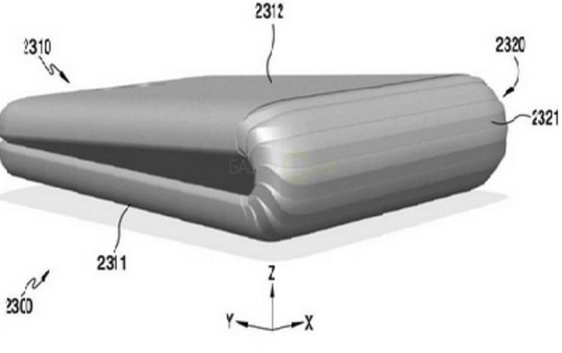 Sáng chế về màn hình gập được mà Samsung nhận được năm ngoái.