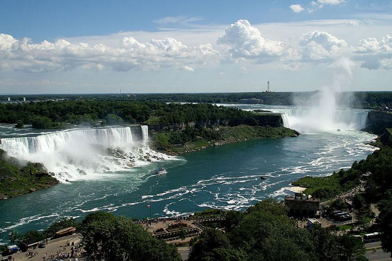 5. Niagara. Thác nước nằm trên sông Niagara tại Bắc Mỹ, ở đường biên giới của Mỹ và Canada. Thác Niagra nổi tiếng vì vẻ đẹp và nguồn giá trị cho thủy điện lớn. Đây là địa điểm du lịch nổi tiếng một thế kỷ qua.