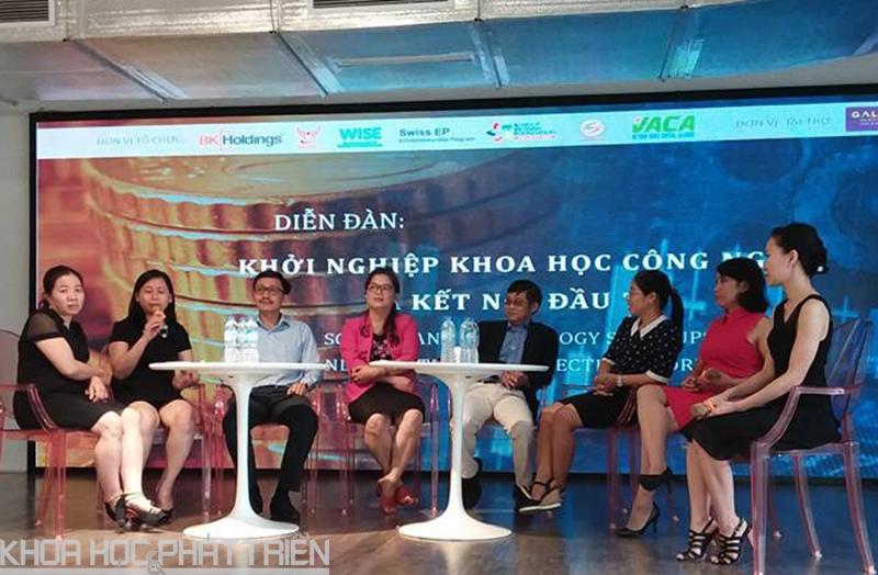Tọa đàm giữa các nhà khoa học nữ với các nhà đầu tư và doanh nghiệp