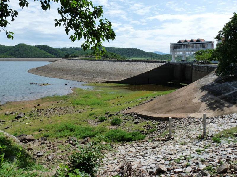 Hồ Sông Quao nằm trong địa phận xã Hàm Trí, huyện Hàm Thuận Bắc, Bình Thuận. Ảnh: Tuệ Minh.
