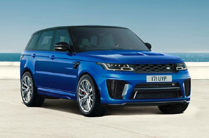8. Land Rover Range Rover Sport SVR (thời gian tăng tốc từ 0-100 km/h: 4,5 giây).