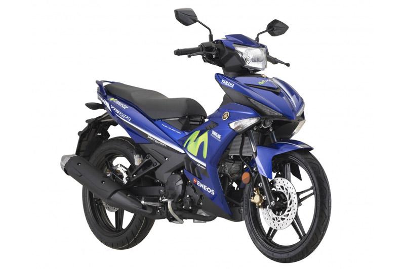 Ảnh chi tiết Yamaha Exciter 150 Movistar 2018 giá gần 48 triệu. Yamaha Y15ZR SE GP 2018 (tên gọi khác của Yamaha Exciter 150 Movistar 2018) vừa được ra mắt tại Malaysia với giá 8.891 Ringgit (tương đương 47,80 triệu đồng). Mẫu côn tay phiên bản đặc biệt này có gì nổi bật? (CHI TIẾT)