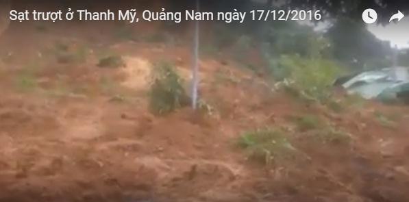 Hình ảnh vụ sạt trượt được cắt ra từ clip.
