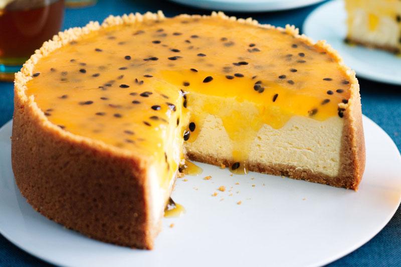 Bánh cheesecake chanh leo. Ảnh minh họa.