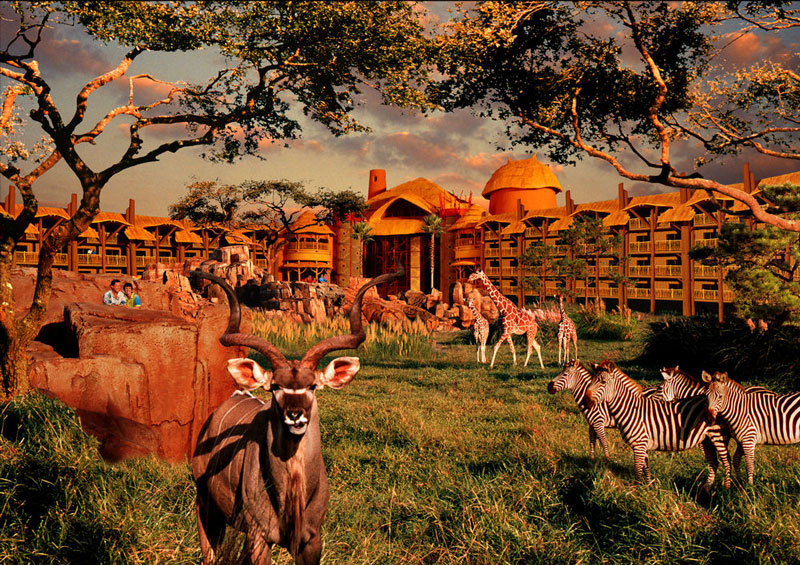 7. Disney's Animal Kingdom. Công viên chủ đề động vật học tại Bay Lake, Florida. Mỹ. Disney's Animal Kingdom rộng 230 ha, được khai trương ngày 22/4/1988. Công viên hàng năm thu hút hơn 10 triệu lượt khách.