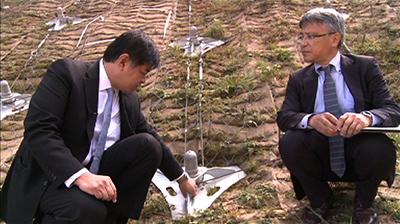 Công nghệ Non Frame của Nhật Bản được lắp đặt ở Buhtan để chống sạt trượt đất xuống đường cao tốc. Ảnh: bbs.bt