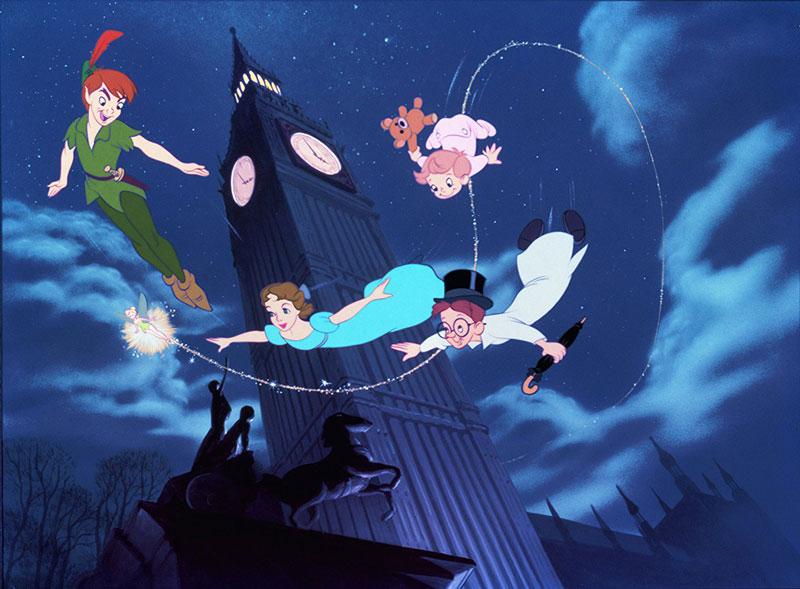 10. Peter Pan. Bộ phim hoạt hình ca nhạc phiêu lưu kỳ ảo được sản xuất vào năm 1953 bởi Walt Disney. Phim dựa trên vở kịch Peter Pan, or The Boy Who Wouldn't Grow Up của J. M. Barrie. Đây là bộ phim thứ 14 trong loạt hoạt hình cổ điển Walt Disney và công chiếu tại rạp ngày 5/2/1953 bởi RKO Radio Pictures.