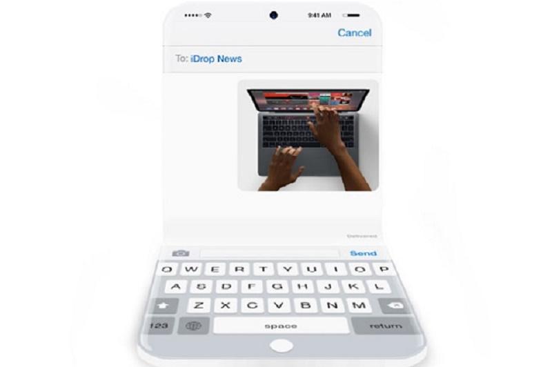 Màn hình OLED tràn cạnh cùng khả năng gập đôi khiến chiếc iPhone 2020 được đồn đoán là chiếc điện thoại đẹp nhất thế giới. Ảnh: iDropnews.