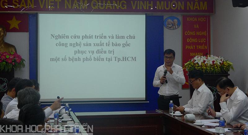 PGS.TS. Phạm Văn Phúc - Viện trưởng Viện TBG TPHCM trình bày về Chương trình