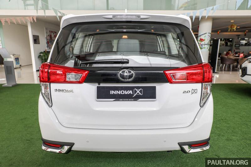 Thiết kế tổng thể của Toyota Innova 2.0X 2017 khá giống với phiên bản 2.0G.