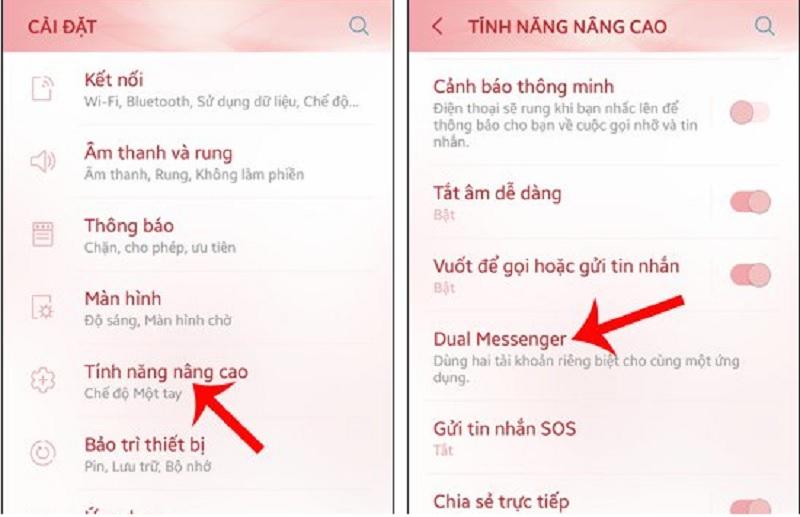 Đăng nhập nhiều tài khoản ứng dụng một lúc trên Android 7.0. Để đăng nhập nhiều tài khoản ứng dụng như Facebook, Instagram, Zalo... trên Android 7.0 người dùng có thể thực hiện thông qua tính năng Dual Messenger. Sau đây là hướng dẫn chi tiết thao tác này. (CHI TIẾT)