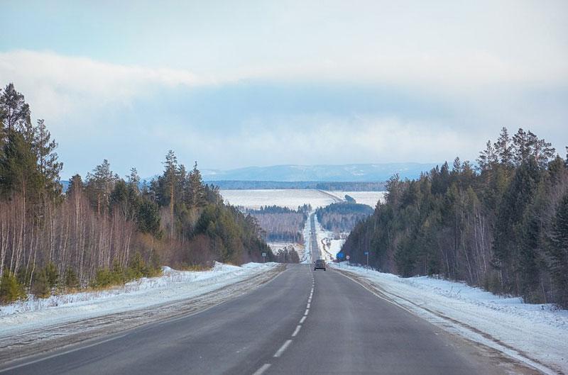3. Đường cao tốc xuyên Siberia (Siberia). Tổng chiều dài: 11.000km.